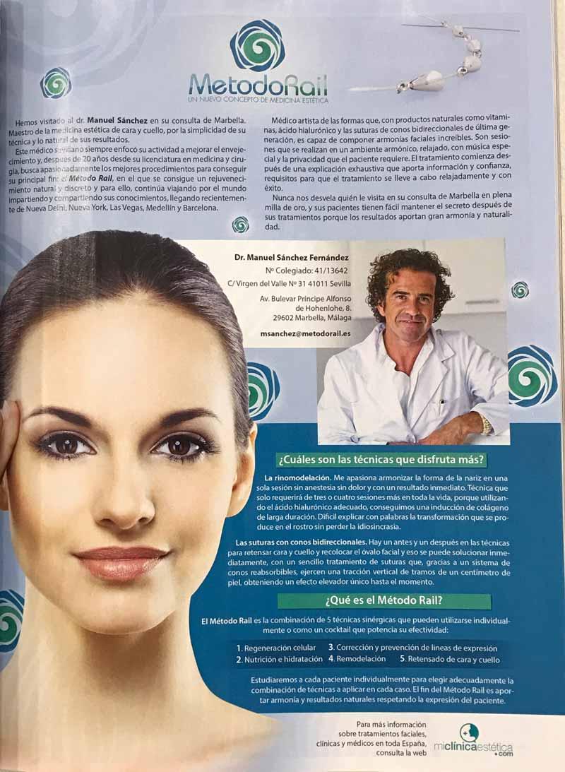Entrevista al Dr Sanchez de Metodo Rail en la revista Woman